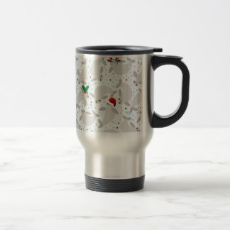 christmas manatee travel mug