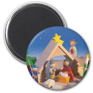 Christmas Manger Scene Magnet