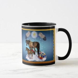 Christmas Mare and Colt Mug