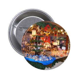 Christmas Market in Hamburg Pinback Button