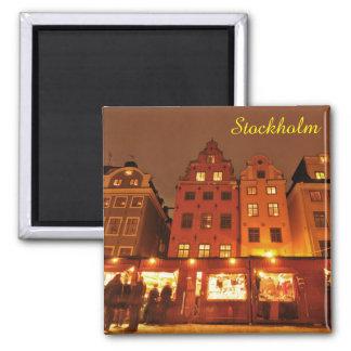 Christmas market in Stockholm, Sweden Magnet