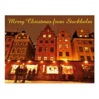Christmas market in Stockholm, Sweden Postcard