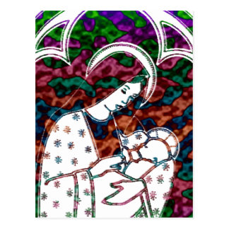 Christmas Mary and Baby Jesus Art Postcard