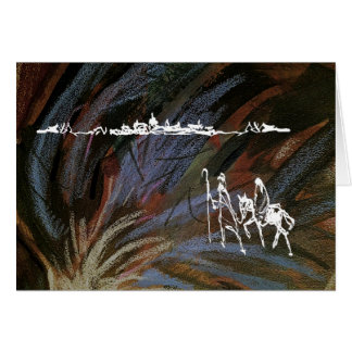 Christmas Mary Joseph to Bethlehem Greeting Card
