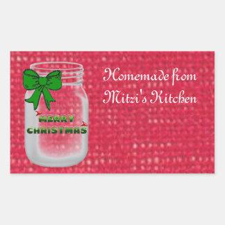 Christmas Mason Jar Labels Stickers