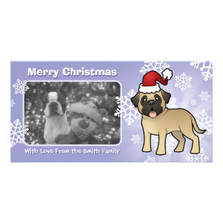 Christmas Mastiff / Bullmastiff Customised Photo Card