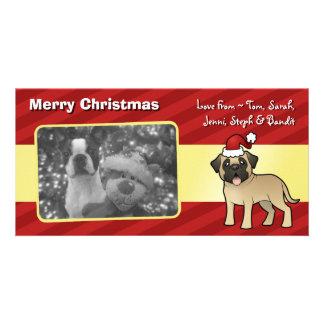 Christmas Mastiff / Bullmastiff Personalized Photo Card