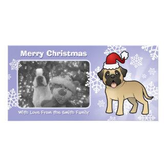 Christmas Mastiff / Bullmastiff Photo Card Template