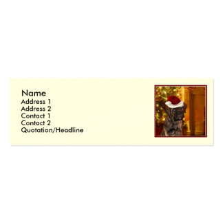 Christmas Mastiff Puppy Pack Of Skinny Business Cards