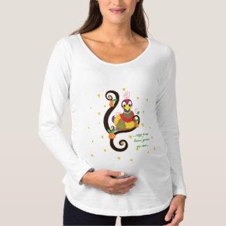 Christmas Maternity Long Sleeve Shirt. Personalise Maternity T-Shirt