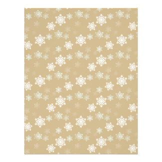 Christmas Matte Gold Snow Flakes Flyers