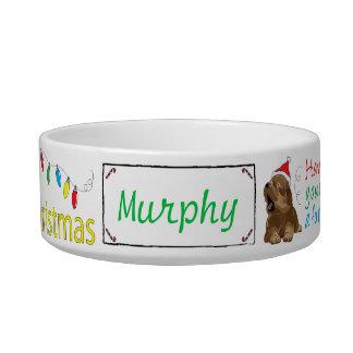 "Christmas Medium DOG Pet Bowl ""Furry Christmas"""