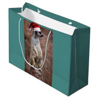 Christmas MeerKat Large Gift Bag