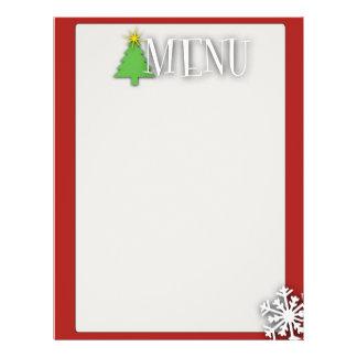 Christmas menu 21.5 cm x 28 cm flyer
