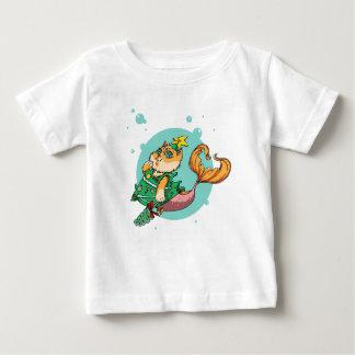Christmas Mermaid Cat Baby T-Shirt