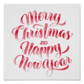 Christmas | Merry Christmas & Happy New Year Poster