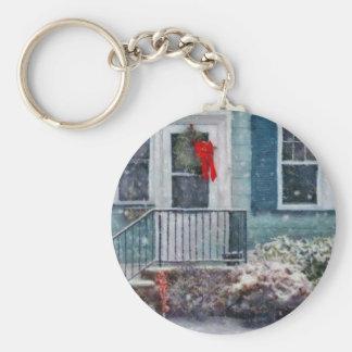 Christmas - Merry Christmas Basic Round Button Key Ring