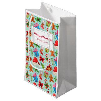 Christmas, Merry Christmas Small Gift Bag