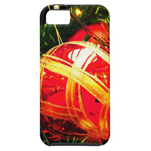 Christmas Merry Holiday Tree Ornaments celebration iPhone 5 Case