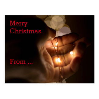 CHRISTMAS MESSAGE | Xmas lights Postcard