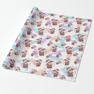 Christmas mice gift paper