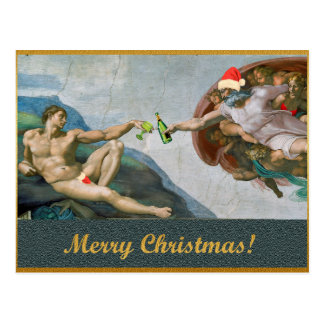 Christmas Michelangelo Postcard