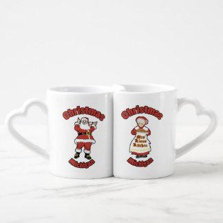 Christmas, Michigan Mr and Mrs Claus Coffee Mug Set