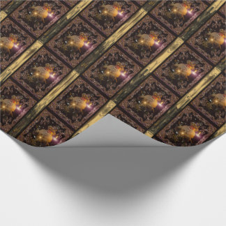 Christmas micro St. Nicholas Victorian Wrapping Paper