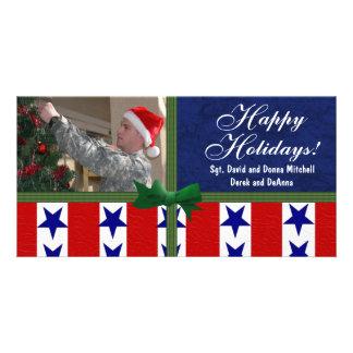 Christmas Military Patriotic Custom Customised Photo Card