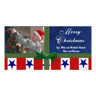 Christmas Military Personalized Photo Card