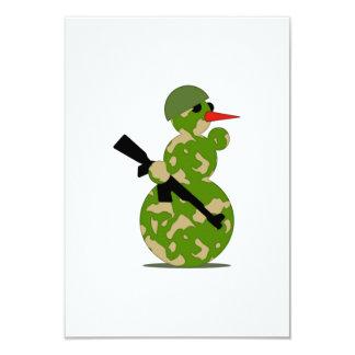 Christmas Military Snowman 3.5x5 Paper Invitation Card