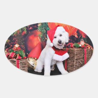Christmas - Mini Doodle - Winston Oval Stickers