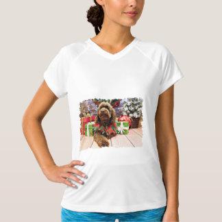 Christmas - Mini GoldenDoodle - Charlie T-shirts