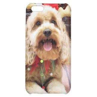 Christmas - Mini GoldenDoodle - Maggie iPhone 5C Cases