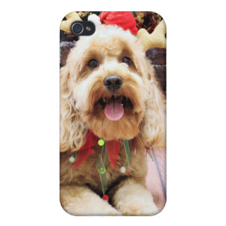 Christmas - Mini GoldenDoodle - Maggie iPhone 4/4S Cases