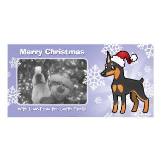 Christmas Miniature Pinscher / Manchester Terrier Photo Card Template