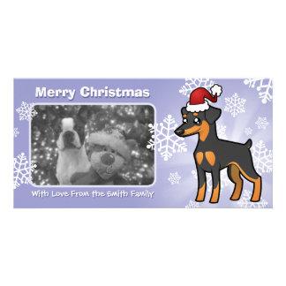 Christmas Miniature Pinscher / Manchester Terrier Photo Greeting Card