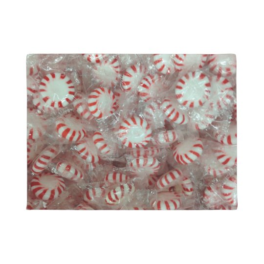 Christmas Mint Candy Doormat