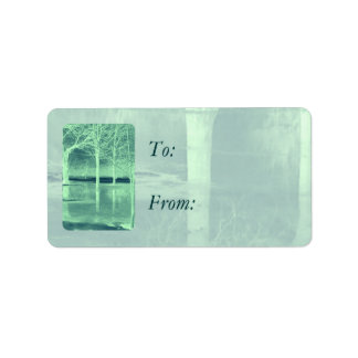 Christmas Mint Gift Tags Address Label