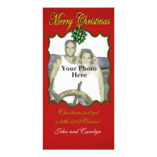 Christmas Mistletoe Photo Greeting Card