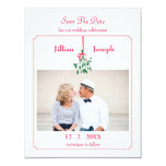 Christmas Mistletoe Photo Save The Date Card Personalised Announcement