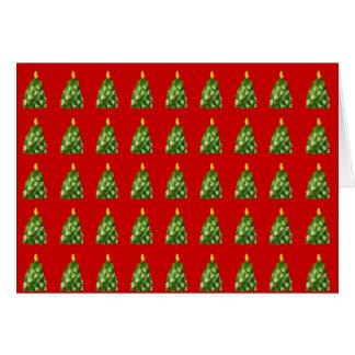 Christmas Mitten Tree Card