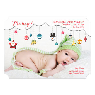 Christmas Mobile Birth Announcement