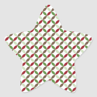 Christmas Modern Pattern Star Sticker