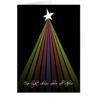 Christmas Modern Rainbow Tree of Light Greeting Card