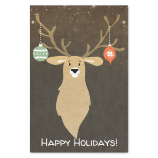 Christmas Modern Rustic Winter Deer Holiday Party Tissue Paper