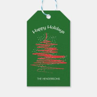 Christmas Modern Whimsical Tree - Snowflakes