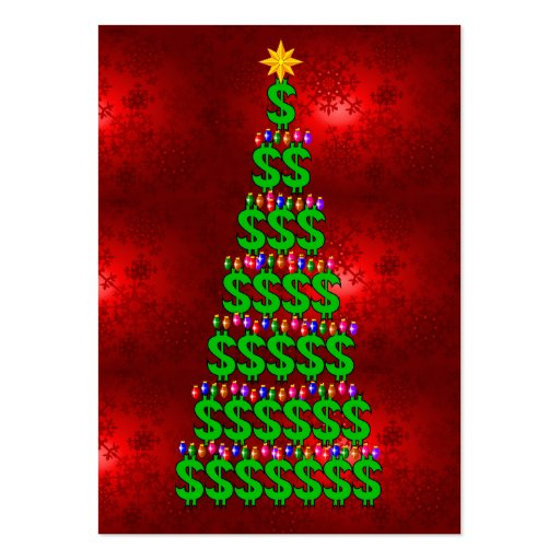 Christmas Money Tree Business Cards