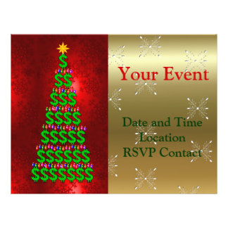 Christmas Money Tree Personalized Flyer