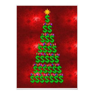 Christmas Money Tree 13 Cm X 18 Cm Invitation Card